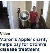 'Aaron's Apple' charity helps pay for Crohn's disease treatment